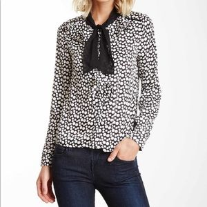 Polka Dot Dressy Button Up